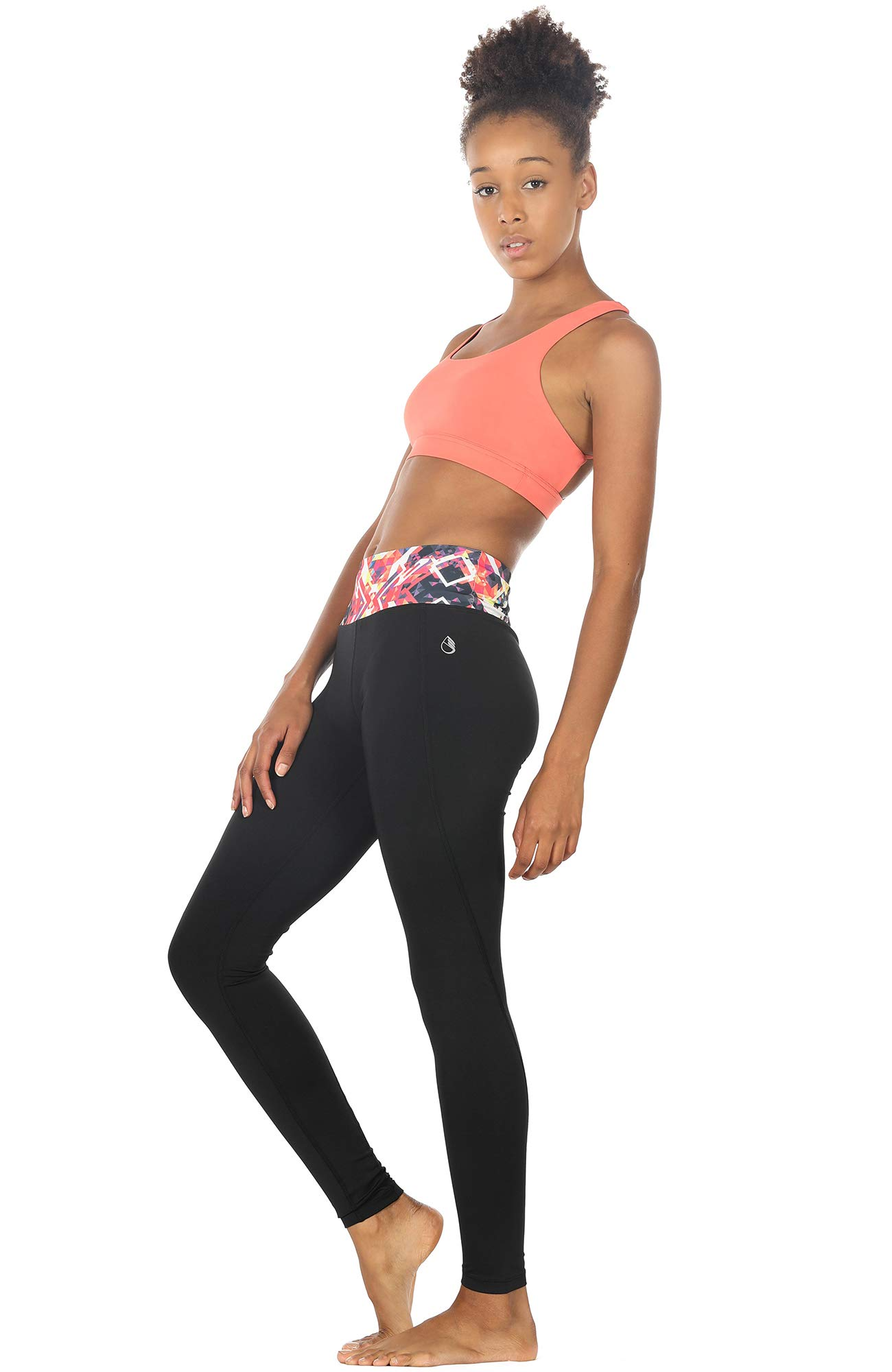 icyzone Women\'s Activewear Yoga Running Workout Pants Leggings Slim Fitted Tights (S, Prismatic)