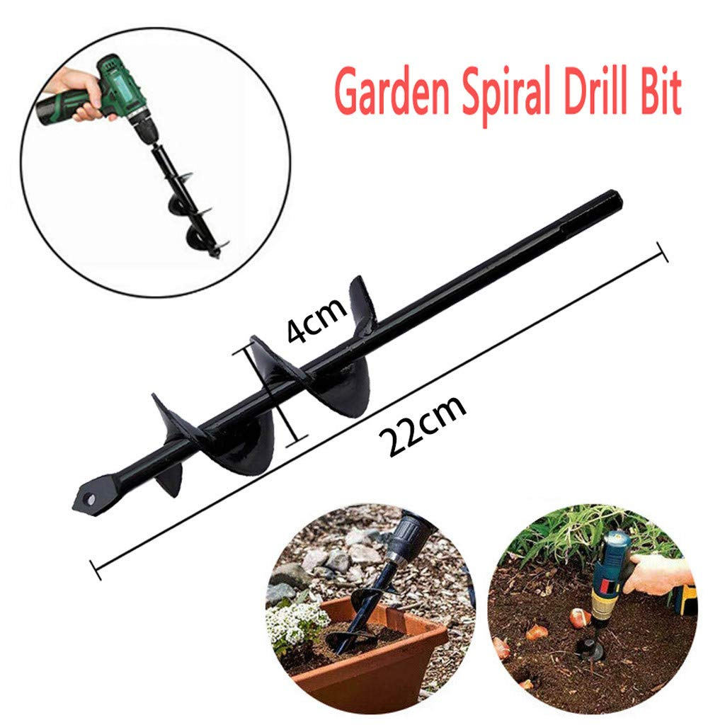 LIUguoo Rapid Planter Garden Auger Spiral Drill Bit,Extended Length Bulb /& Bedding Plant Auger 1.6 x 17.7 inch