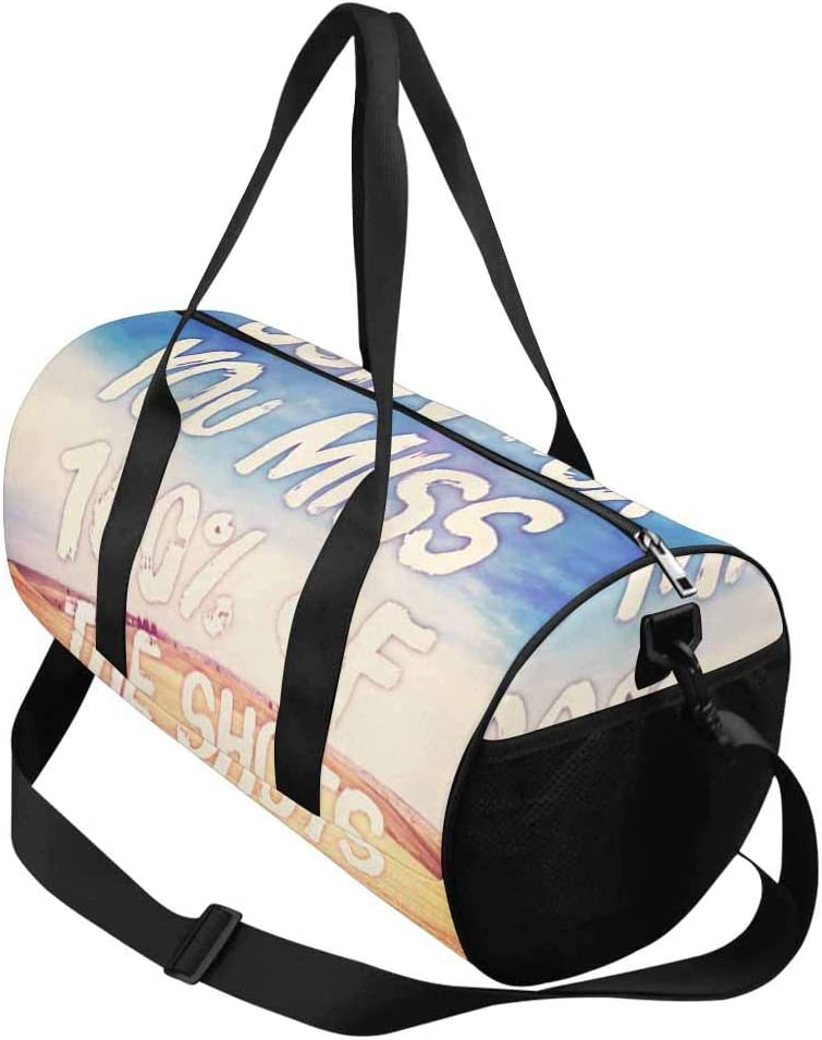 INTERESTPRINT You Miss 100/% of the Shots You Dont Take Lightweight Carry-on Travel Duffel Bag