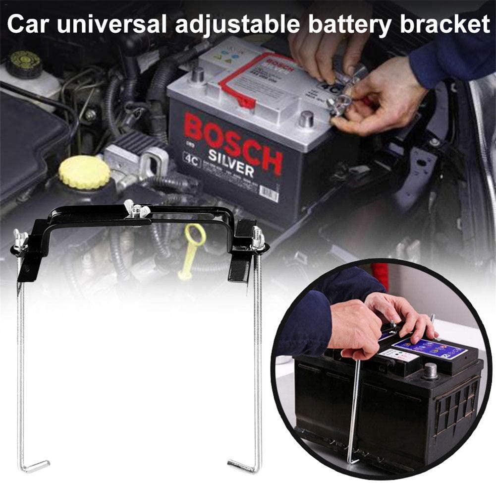 Aufbewahrungsbeh/älter Verstellbare Stabilisator Halterung Katurn 7,5 Auto Batterie Halter Klammer Werkzeug Autobatterie Haltebolzen