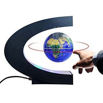 World Map Globe Ball. Magnetic Levitation Floating World Map Globe with C Shape Base  3 quot Rotating Planet Earth Amazon com