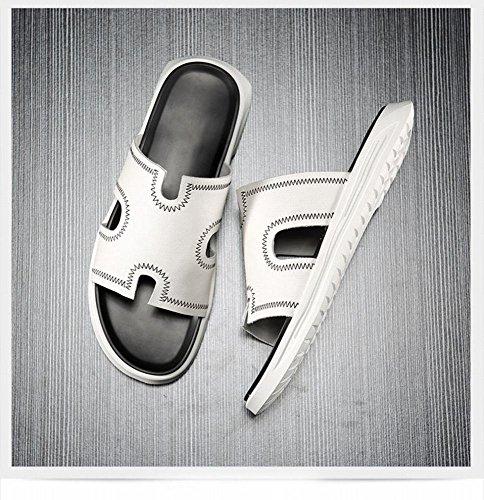 fondo Ciabatte antiscivolo da pantofole uomo A maschile moda con una ZPD all'aperto parola morbido sandalo estive pantofole 6wx6AqdPv1