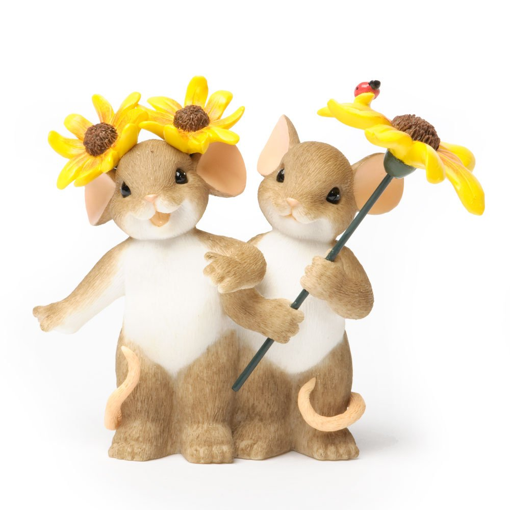 Enesco Charming Tails Everything Figurine Sunflowers Mice Mouse
