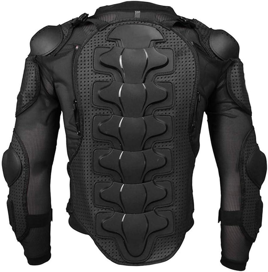 Large Noir xiegons0 Moto Protection Veste S/ûr Isotherme Moto Corps Protection Veste Complet Armure Protection pour VTT Moto