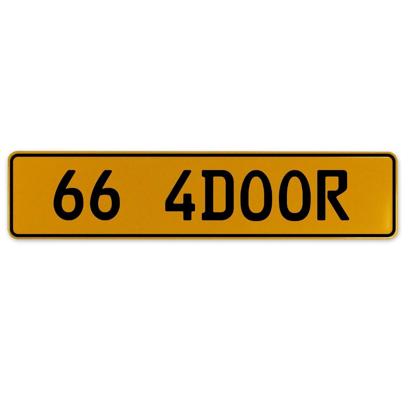 Vintage Parts 563178 66 4DOOR Yellow Stamped Aluminum European Plate