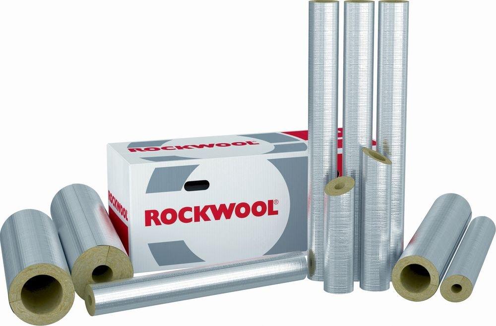 Fibo24 48x30//12m Rockwool RS800 WLG 0,035 Steinwolle Rohrisolierung alukaschiert Rohrschale VOLLER KARTON