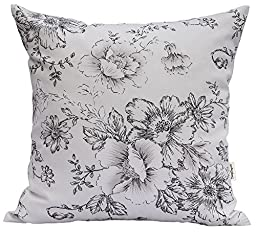 TangDepot174; 100% Cotton Floral/Flower Printcloth Decorative Throw Pillow Covers /Handmade Pillow Shams - Many Colors, Sizes Avaliable - (24\