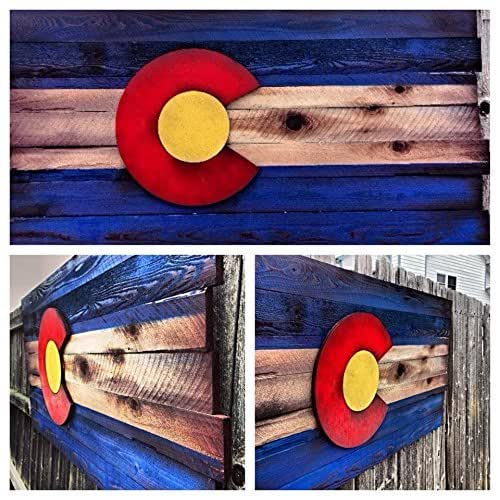Rustic Motors 3d Custom Made Jewelry Home: Amazon.com: Wooden Colorado Flag- Aged Wood-Hand Cut