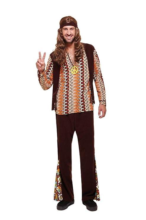 Chaks c4162 m, disfraz hippie vintage hombre adulto, talla M ...