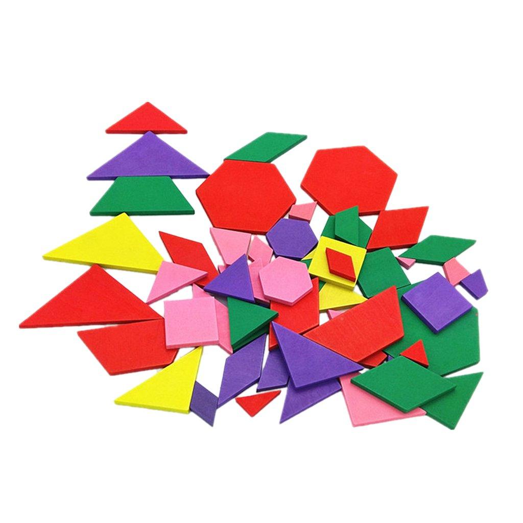 MagiDeal Puzzle Géométrique en Bois Figure Jouet Educatif pour Enfant