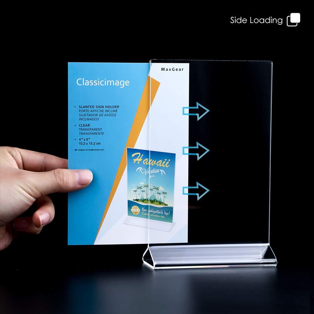 Amazon.com : MaxGear Acrylic Sign Holder 4