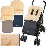 Winterfußsack / Fußsack (100% ECHTES LAMMFELL) für Kinderwagen / Buggy / Jogger Kinderwagenfußsack