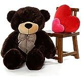ToyHub 3 Feet Stuffed Teddy Bear (Chocolate Color) - 91 Cm