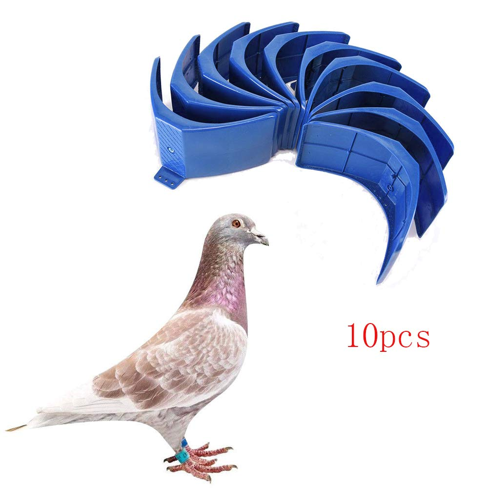 LVOERTUIG 10pcs Pigeon Stand Dove Rest Stand Pigeon Perch Roost Frame Grill Dwelling Pigeon Perches Roost Bird Supplies Accessories(Blue)