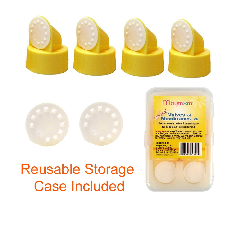 Replacement Valve and Membrane for Medela Breastpumps (Swing, Lactina, Pump in Style), 4x Valves/6x Membranes, Part #87089 by Maymom (English Manual) M005-4V6M
