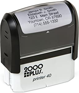 Basic Personalized Self-Inking Address Stamp with 5 Lines - Black Ink
