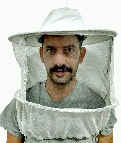 Amazon.com: Apicultor velo sombrero blanco Round parte ...