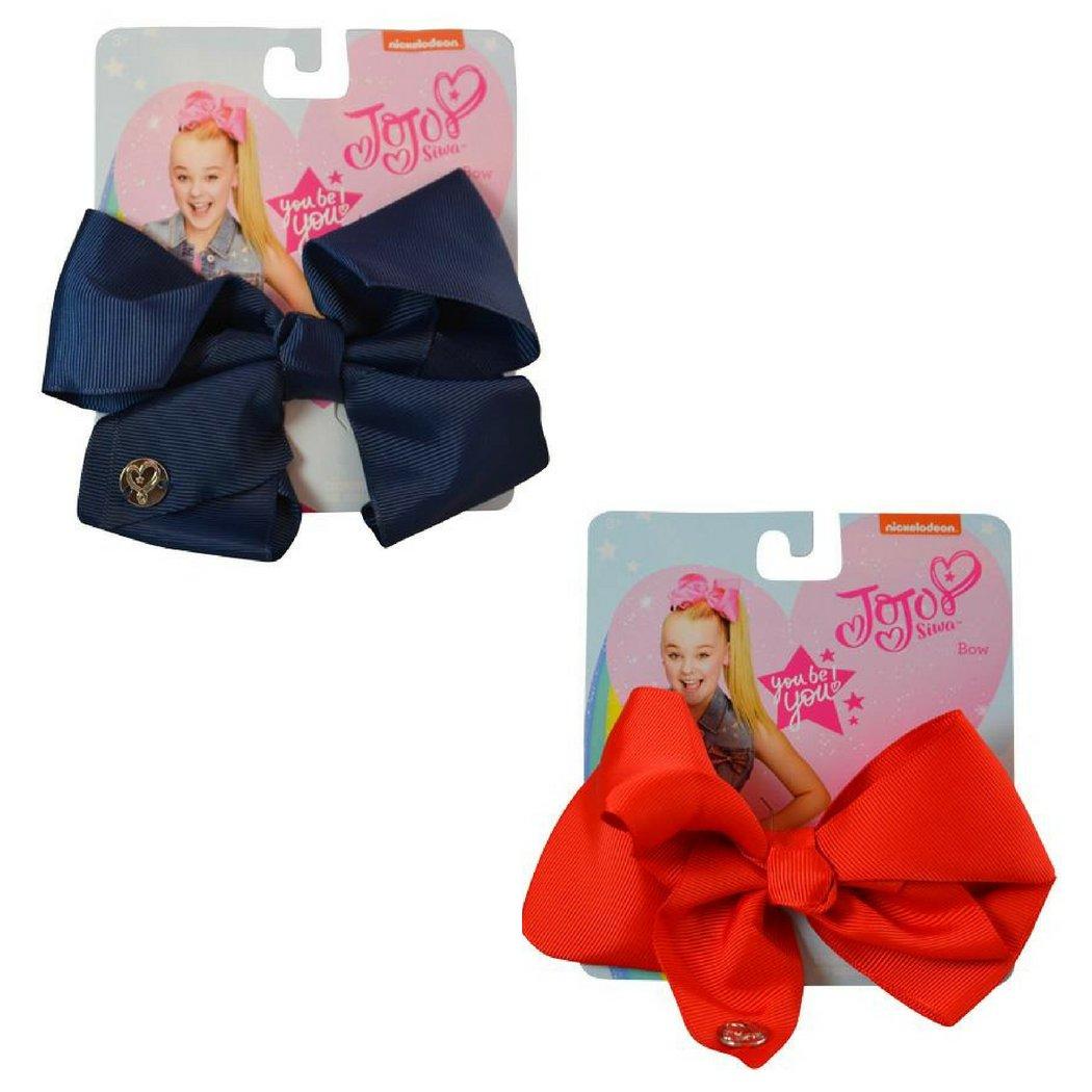 JoJo Siwa Medium Basic Bow Bundle Gift Pack (Medium, Red/Navy)