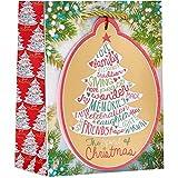 Jillson & Roberts Small Gift Bags, Ornament Tote (120 Pcs)