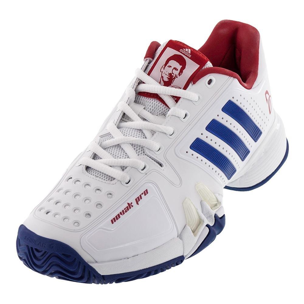 Adidas Barricade Novak Pro Men's Tennis Shoe WhiteBlueRed