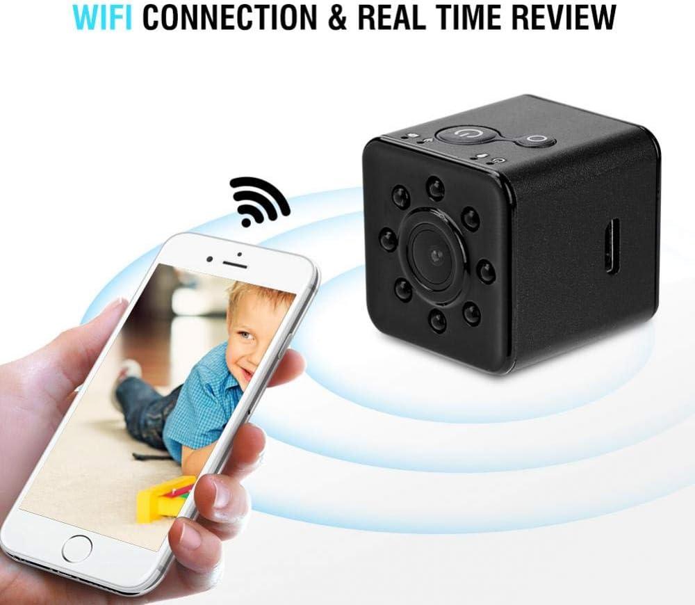 Enregistrement en Boucle Bureau Rouge Vision Nocturne WiFi Mini Cam/éra Full HD 1080p 12MP Babysitter Cam Ext/érieur Petit Cam Cam Monitor D/étection de Mouvement Maison