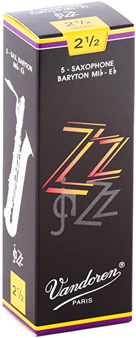 VANDOREN ZZ JAZZ BARITONE SAXOPHONE REEDS 2.5 5//box