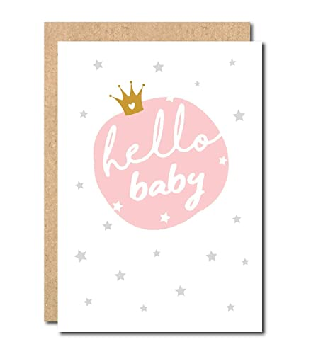 66cba4607ee68 Baby Girl Card newborn Baby Congratulation Greeting Card it's girl ...