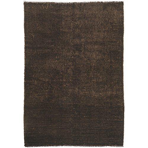 Surya Shadow SHD-6900 Shag Hand Woven 50% Wool / 50% Polyester Chocolate 5' x 8' Area ()
