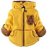 ZUOMAボーイズ ガールズ ベビー 子供服 綿入れ上着 ユニセックス ダウンコート コート 上着 ジャケット パーカー 0-6歳