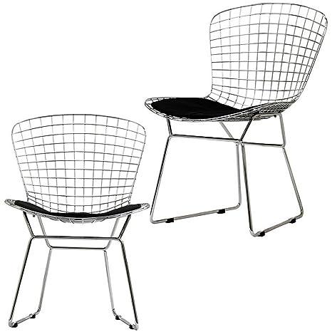Amazon.com: Con silla con asiento de vinilo de acero moderno ...