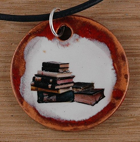 Orginal handicraft: Bücher; student, university, college, teacher, study, jewellery, jewelry, handcrafted necklace, best gift, art, ceramic