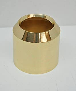 Solid Brass Smooth Church Candle Follower 3' Paschal Size (Burner Topper Chaser)