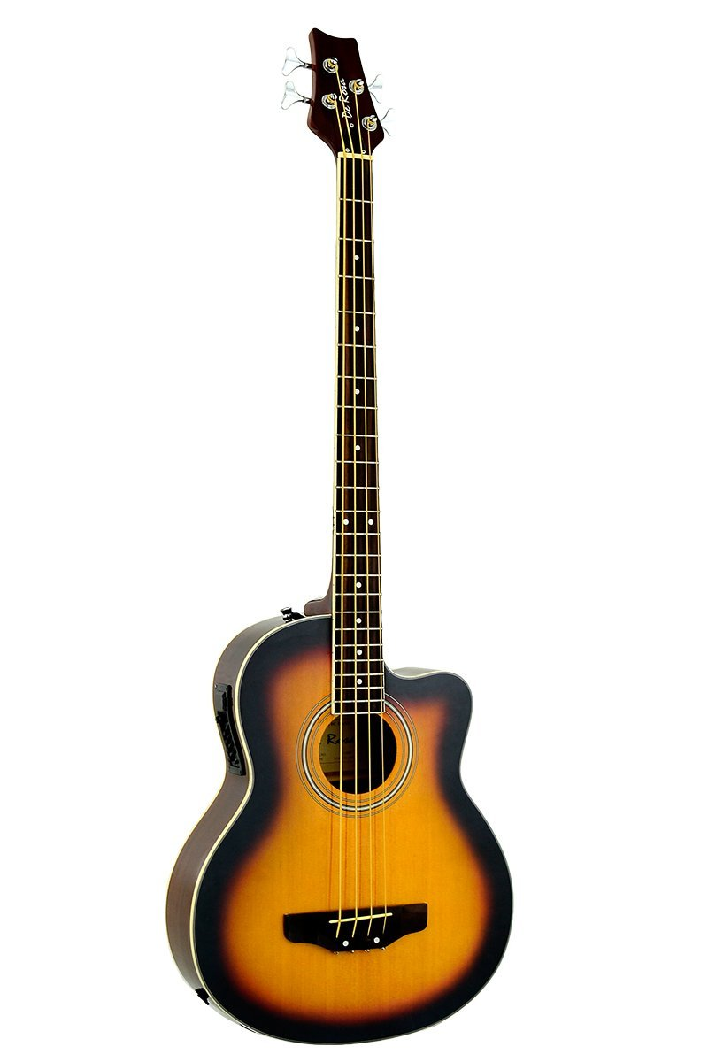 Directly Cheap 4 String Acoustic-Electric Bass Guitar, Sunburst + Lessons (000-BT-GAB47-TS)