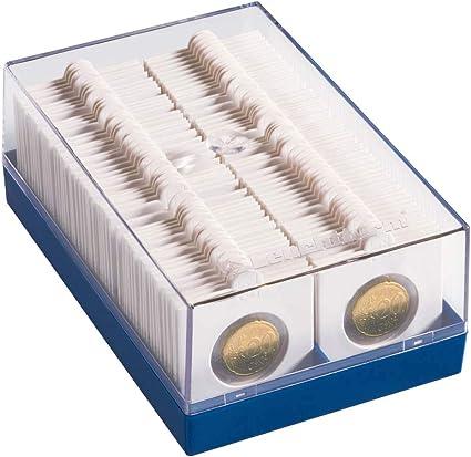 Leuchtturm 315511 Caja de plástico para 100 cartones de monedas ...
