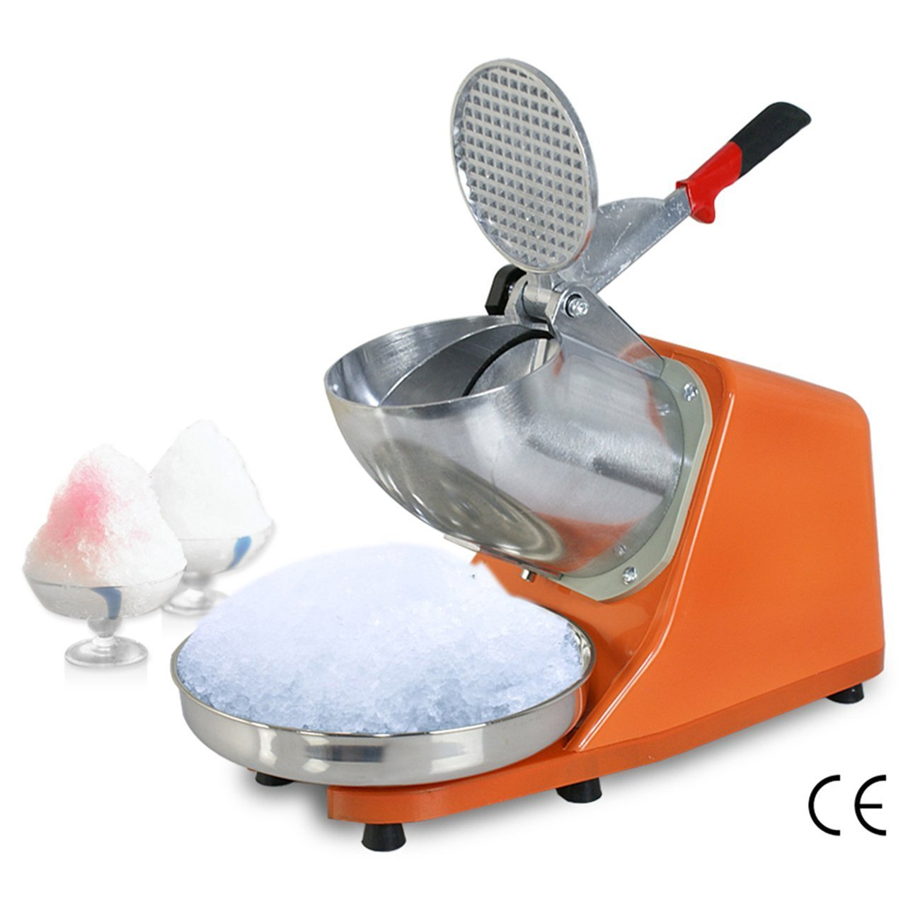 SuperDeal 300W Electric Ice Shaver Machine Shaved Ice Snow Cone Maker 143 lbs New (Orange) by SUPER DEAL