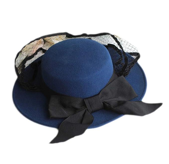 Feiboy gorra ala ancha elegante hats mujeres cómodo invierno jpg 679x662  Invierno amazon otoño sombrero chicas 722eee61835