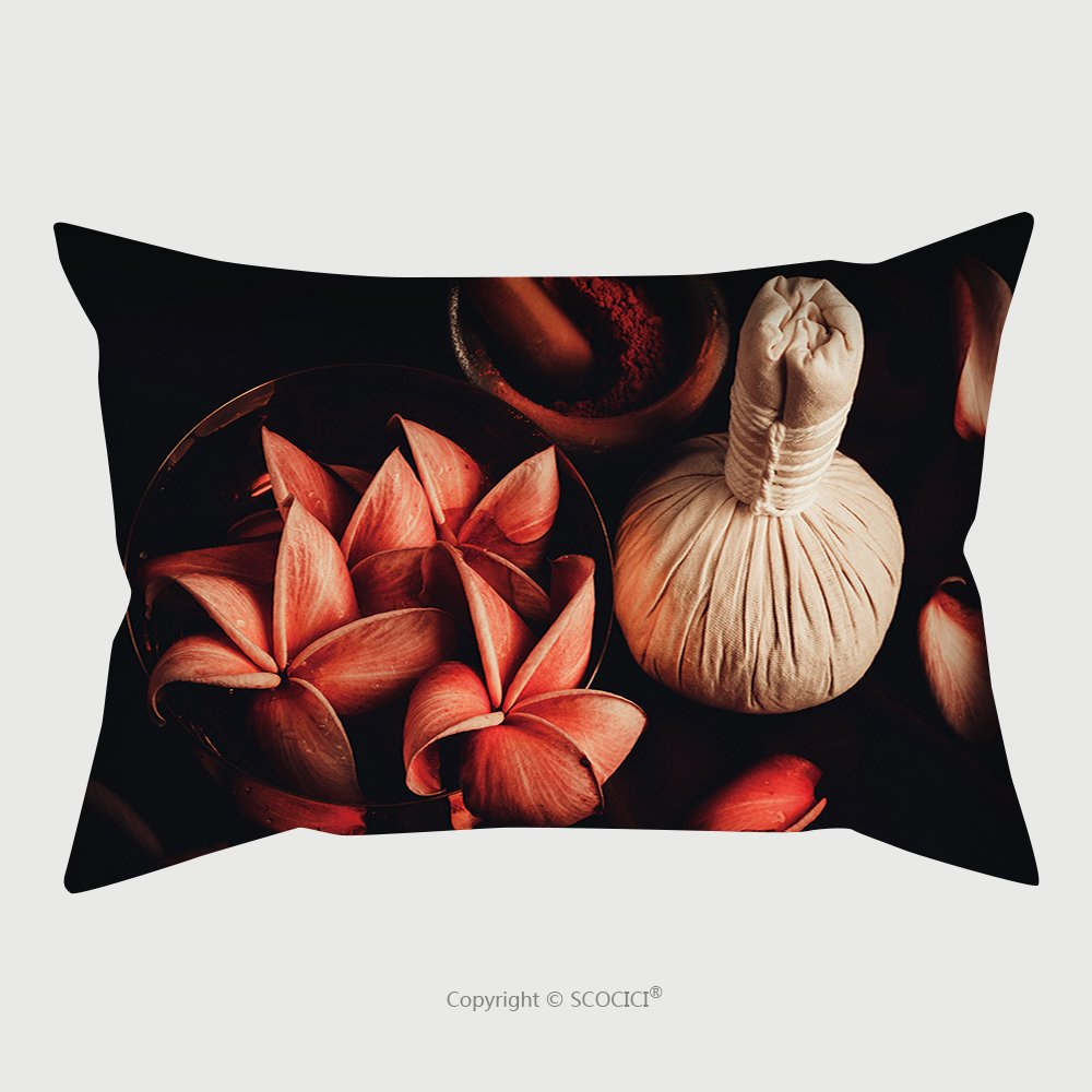Custom Satin Pillowcase Protector Close Up View Of Spa Theme Objects High Angle View 297394589 Pillow Case Covers Decorative
