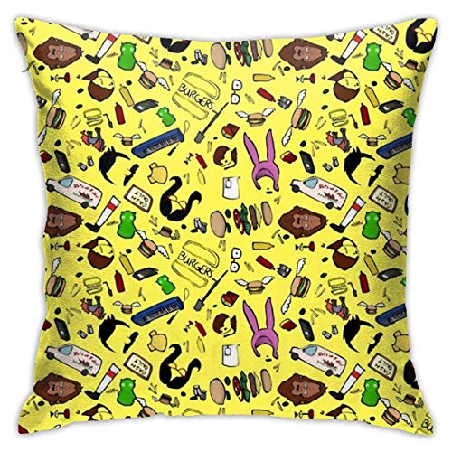 Cheny Bobs Burger Minimal Pattern Pillow Covers Home Decor Throw Pillow Covers Cushion -