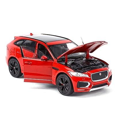AGWa Échelle de modèle de simulation de véhicule modèle de voiture 1:24 Alliage Collection décorative cadeau pour enfants or/rouge/bleu Bricolage
