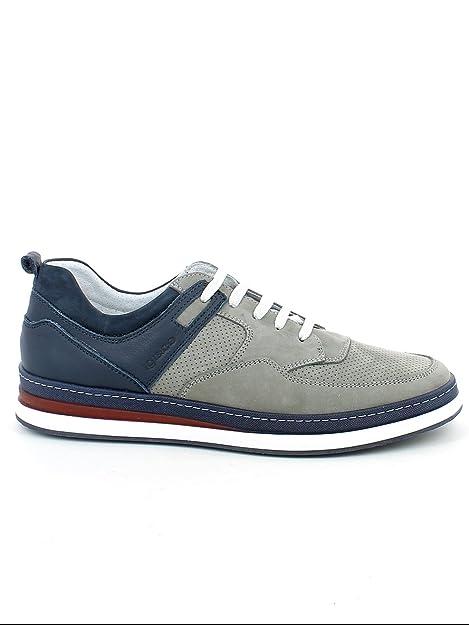 huge discount 75356 e08d7 IGI&CO shoes men low sneakers 1127711 GRAY / BLUE size 45 ...