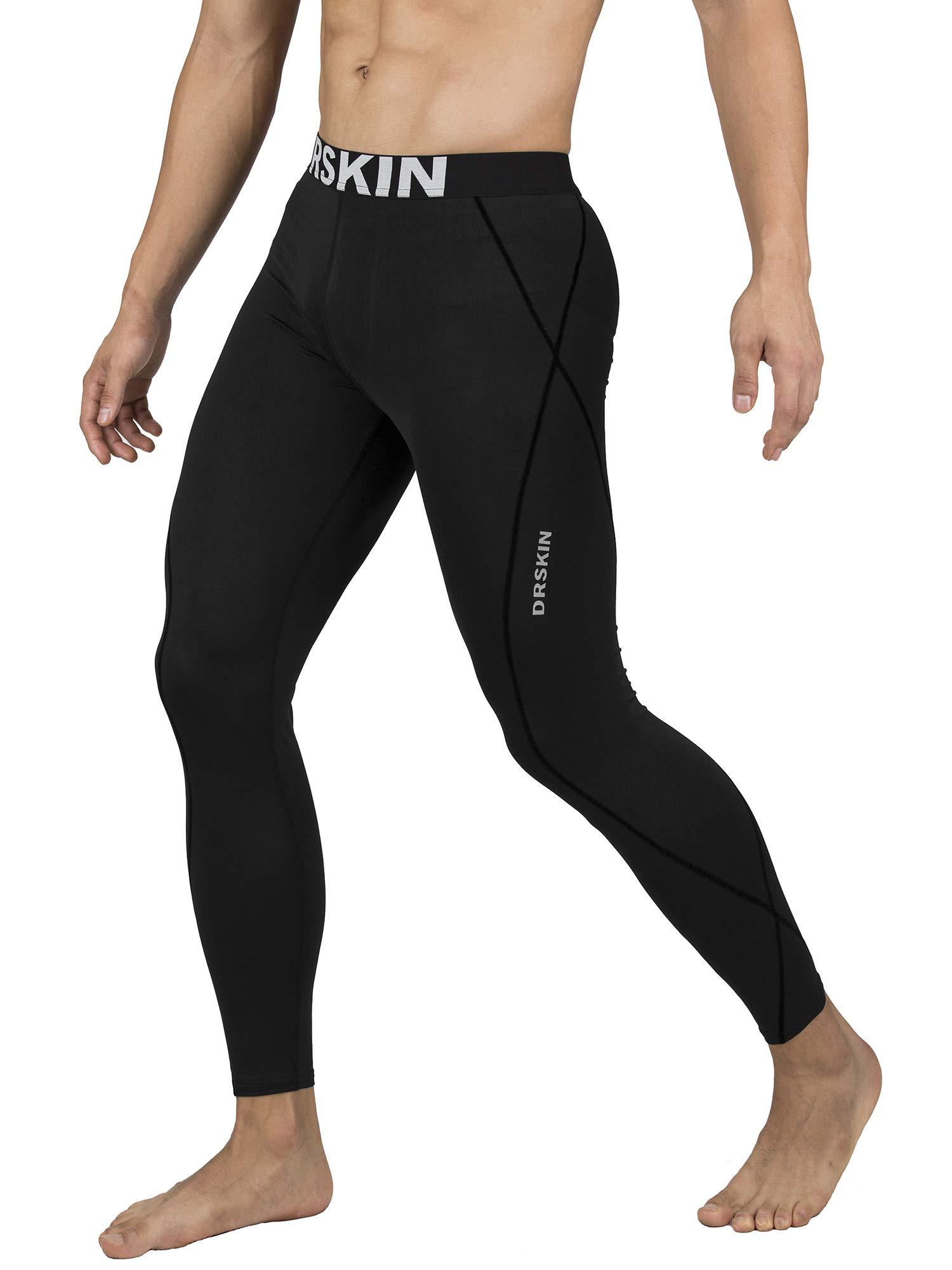 d461d913df5aa9 Galleon - DRSKIN Compression Cool Dry Sports Tights Pants Baselayer Running  Leggings Yoga Rashguard Men (S, DABB11)