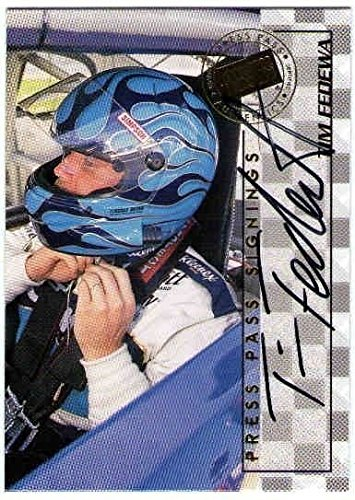TIM FEDEWA 1998 Press Pass Signings Autograph Auto On Card BV$15