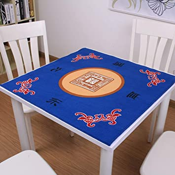NuoEn Mahjong Mat Poker: Cubierta de Mesa para póquer, Juegos de Cartas, Juegos de Mesa, Juegos de fichas, fichas de dominó y Antideslizantes de Mahjong y Poco ruido78X78cm: Amazon.es: Juguetes y juegos