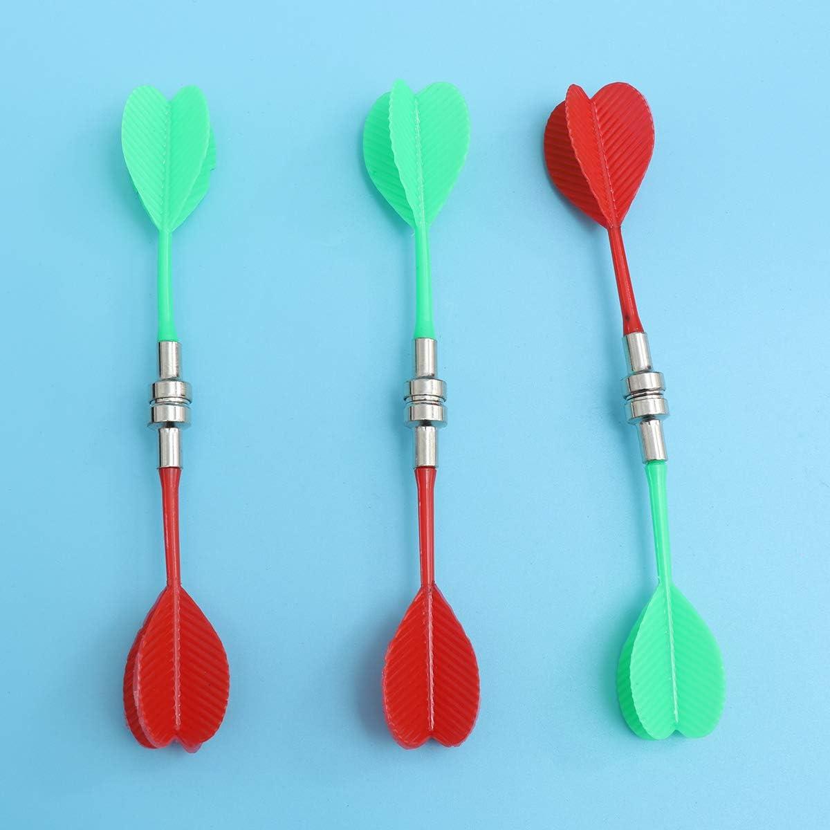 NUOBESTY Jeu de fl/échettes magn/étique Flocking Jeu de fl/échettes en Plastique pour fl/échettes dint/érieur en Plastique pour fl/échettes de Flocons de Flocons 15 Pouces avec fl/échettes