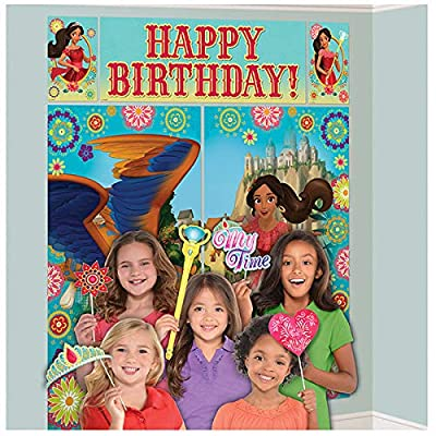 amscan Scene Setters Wall Decorating Kit | Disney Elena of Avalor Collection | Birthday: Toys & Games