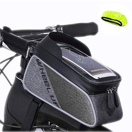 SHS Bolsa de Bicicleta Impermeable, Bolsa de Marco de Bicicleta ...