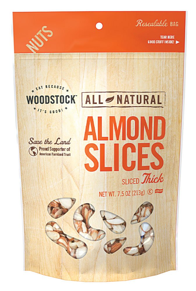 Woodstock Farms Natural Almonds Thick Sliced -- 8 oz
