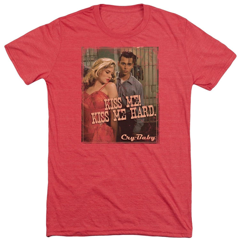 Cry Baby Men's Kiss Me Tri-Blend T-Shirt