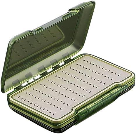 Nacome Caja de anzuelos de Pesca, Resistente al Agua, Caja de señuelos para Pesca con Mosca, Caja de Almacenamiento: Amazon.es: Deportes y aire libre
