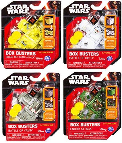 Star Wars Set Box Busters Rebel Tie Fighters Attack + Battle of Hoth Mini Spaceship Set + Battle of Yavin & Endor blocks toy Bundle